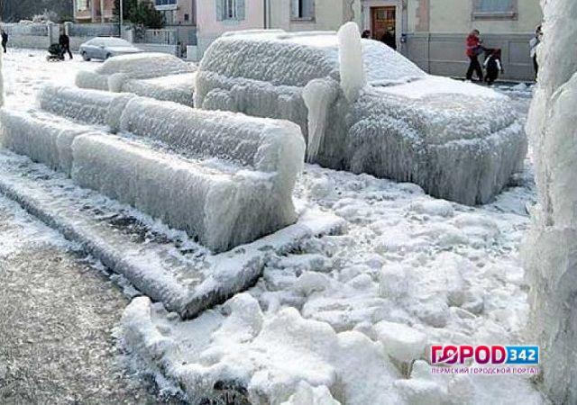 НаПермь идет сильный снегопад, потом— резкое похолодание