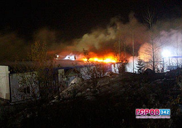 ВПрикамье горел склад бытовой химии. Пожару тушили 11 часов