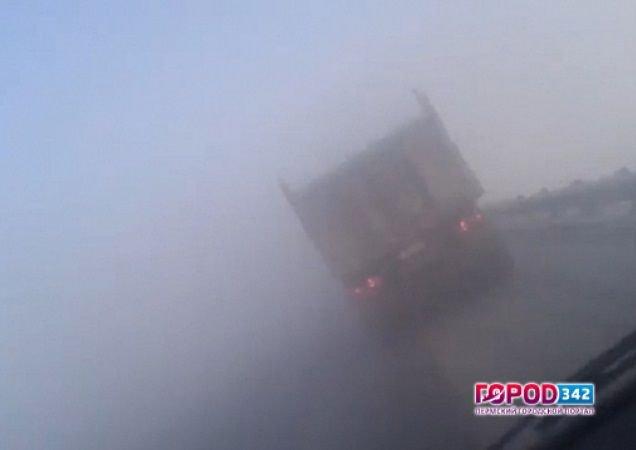 Туман спровоцировал семь ДТП за15 мин. натрассе Пермь