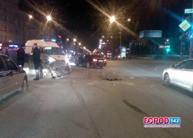 22-летняя девушка-пассажир пострадала вДТП вцентре Перми