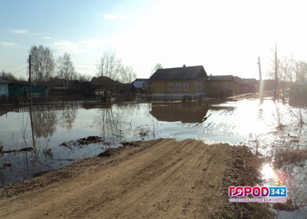 ВПермском крае из-за паводка затопило дворы иогороды